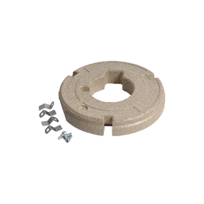Insulation ring with fittings