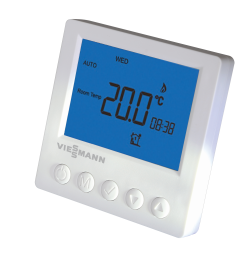 Underfloor heating room heating control and thermostat