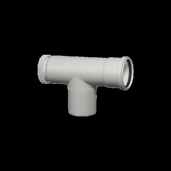 7373217 Flue 60mm Pipe, Inspection tee 87 degree