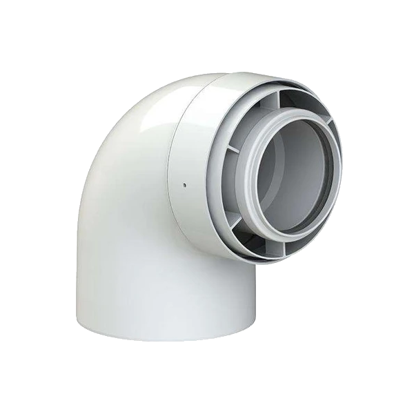 7373226 Flue 60/100mm 87 degree bend