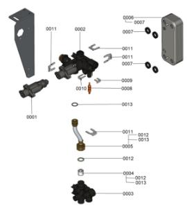 7121616 Hydraulic Block
