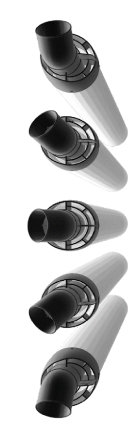 Flue 60mm Plume Diverter (for use reduced height horizontal flue)