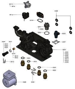 7121315 WB1C Hydraulic Block Detail