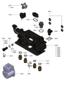 7121318 Hydraulic Block Detail