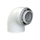 7247539 Flue 100/150mm Balanced, 87 degree elbow, for Internal routing