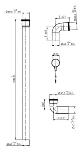Flue 60mm Plume Mangement Kit- Reduced height