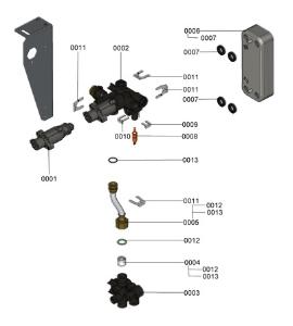 B1LA 7121615 Hydraulic Plate Detail